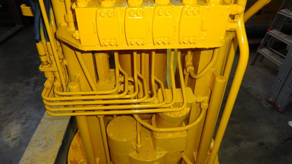 Revisie dek-kraan van bagger schip